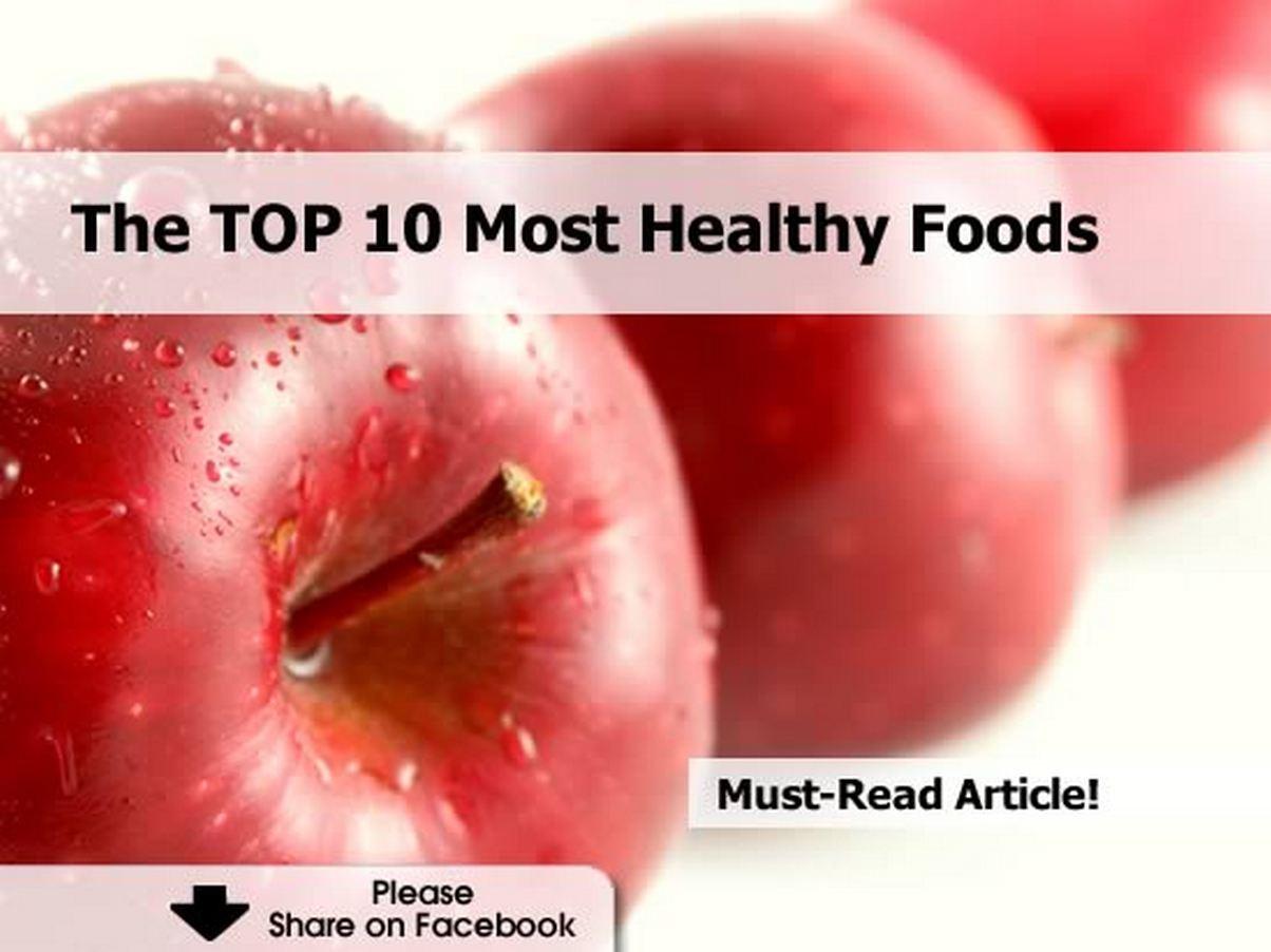 Top 10 Healthy Snacks  The TOP 10 Most Healthy Foods