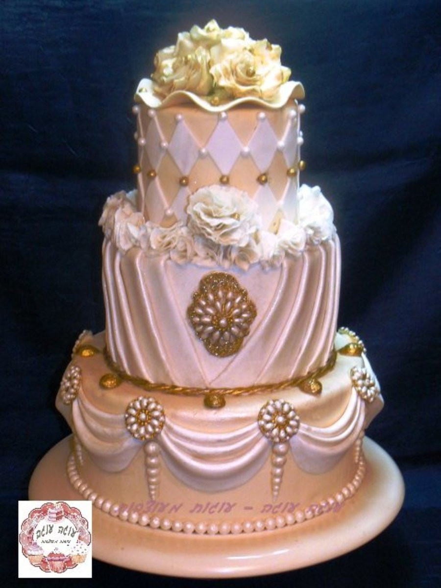 Tops Of Wedding Cakes  Bling Bling Over The Top 3 Tier Wedding Cake CakeCentral
