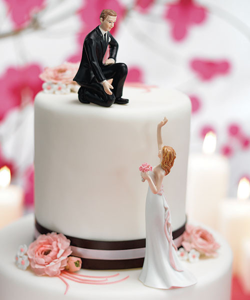 Tops Of Wedding Cakes  Funny Wedding Cake Toppers
