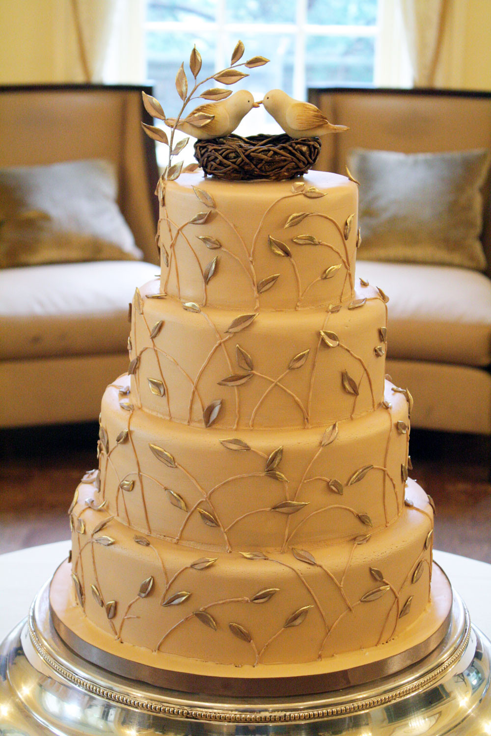 Tops Of Wedding Cakes  Let Them Eat Cake At Your Wedding Love Birds Top This Cake