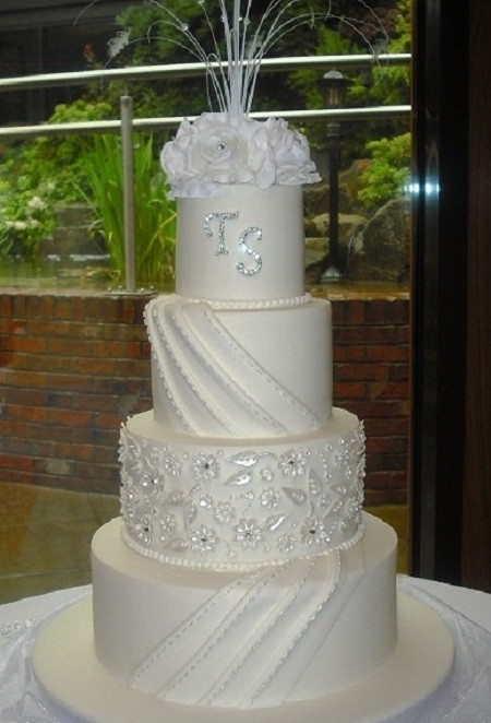 Tops Of Wedding Cakes  Wedding Cakes Wednesbury Top Nosh Cakes