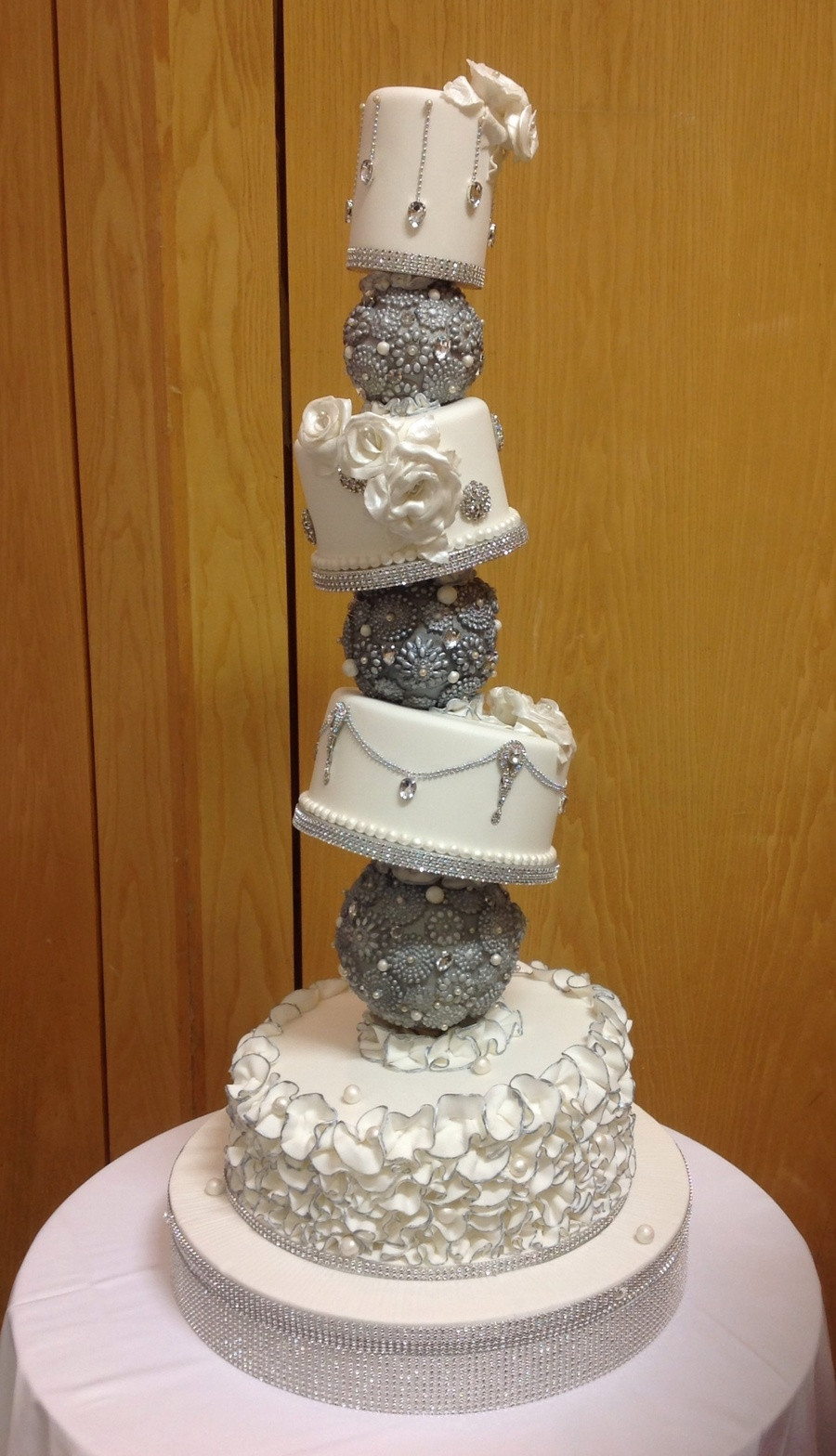 Topsy Turvey Wedding Cakes  Topsy Turvy Wedding Cake CakeCentral