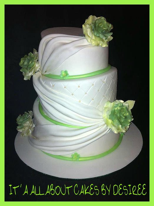 Topsy Turvey Wedding Cakes  Topsy Turvy Draped Wedding Cake Cake by Desiree CakesDecor