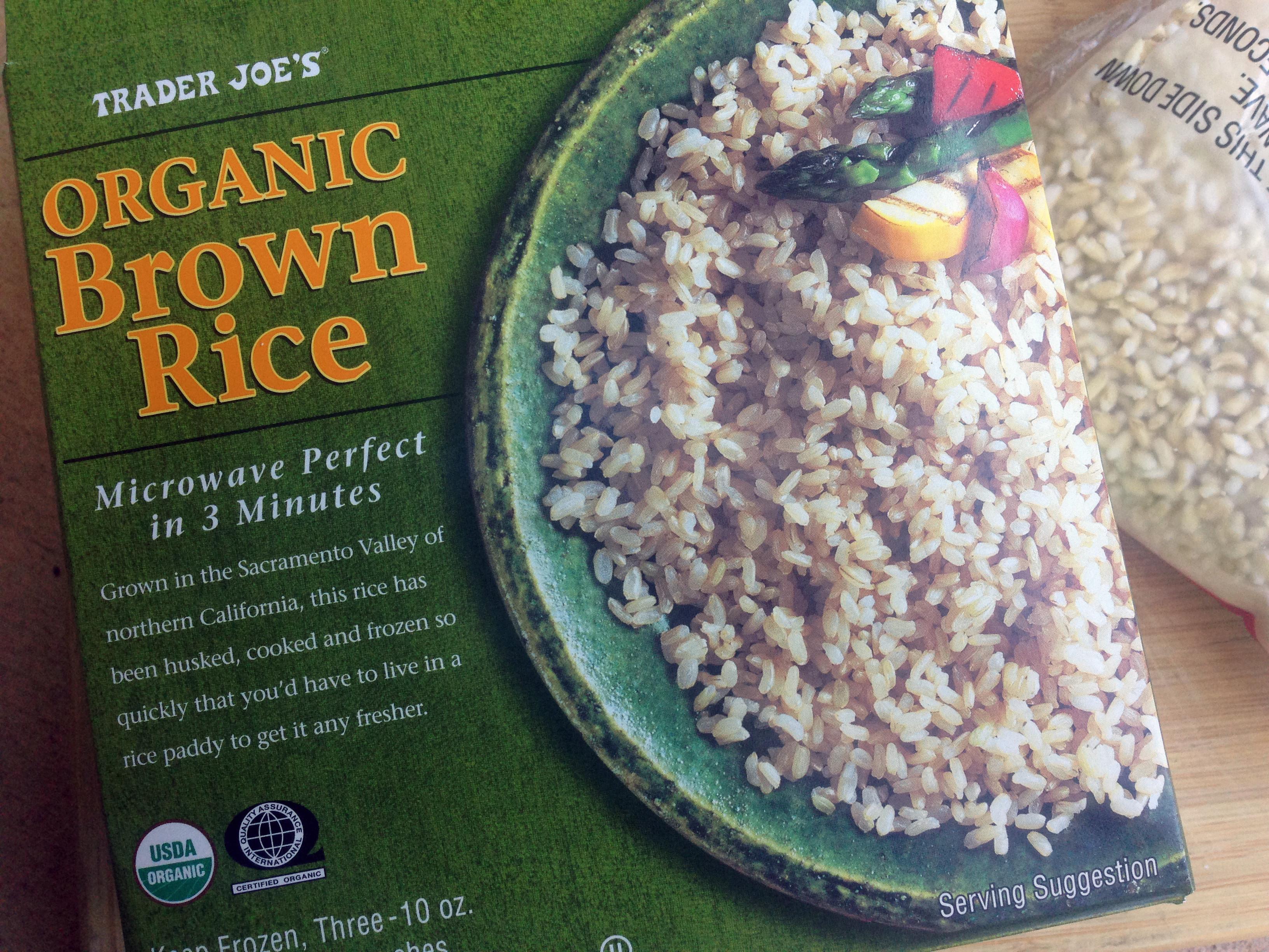Trader Joe'S Organic Brown Rice  Trader Joe s frozen organic brown rice