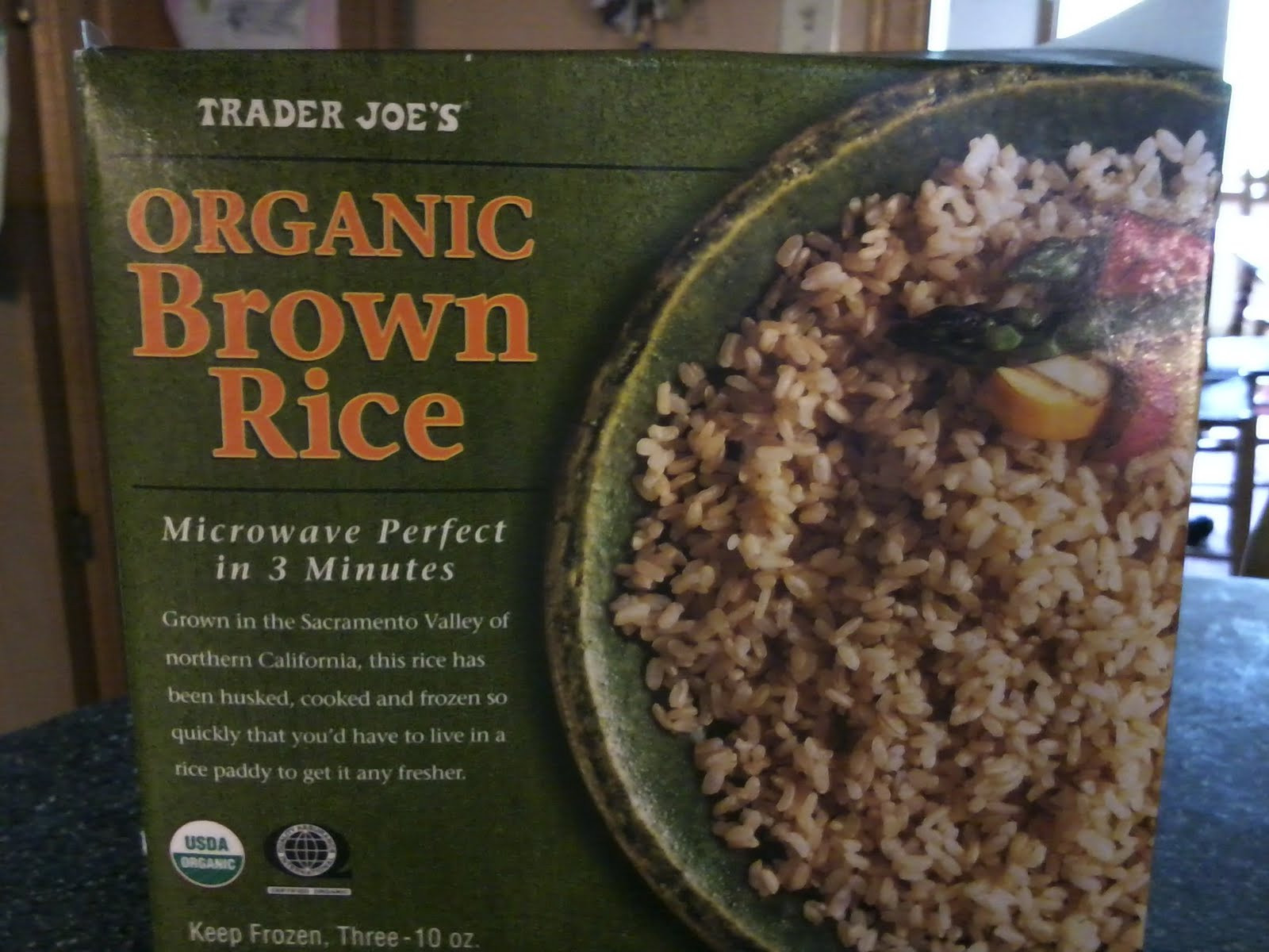Trader Joe'S Organic Brown Rice  A Lifetime Loser Food The Day Joy Bauer s Power Lunch