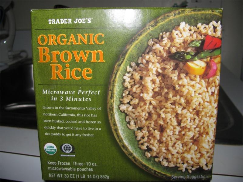 Trader Joe'S Organic Brown Rice  running Following Foo