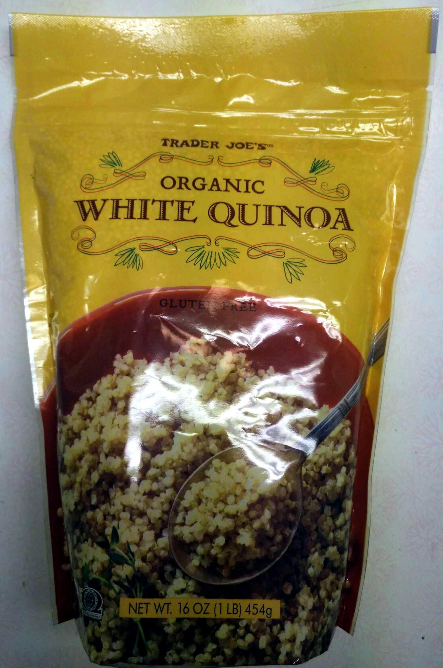 Trader Joe'S Organic Quinoa  Organic White Quinoa Trader Joe s 16 OZ 1 LB 454g