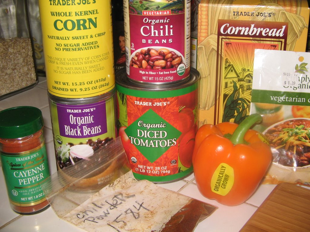 Trader Joe'S Organic Vegetarian Chili  Get Sconed Vegan chili and cornbread made even easier