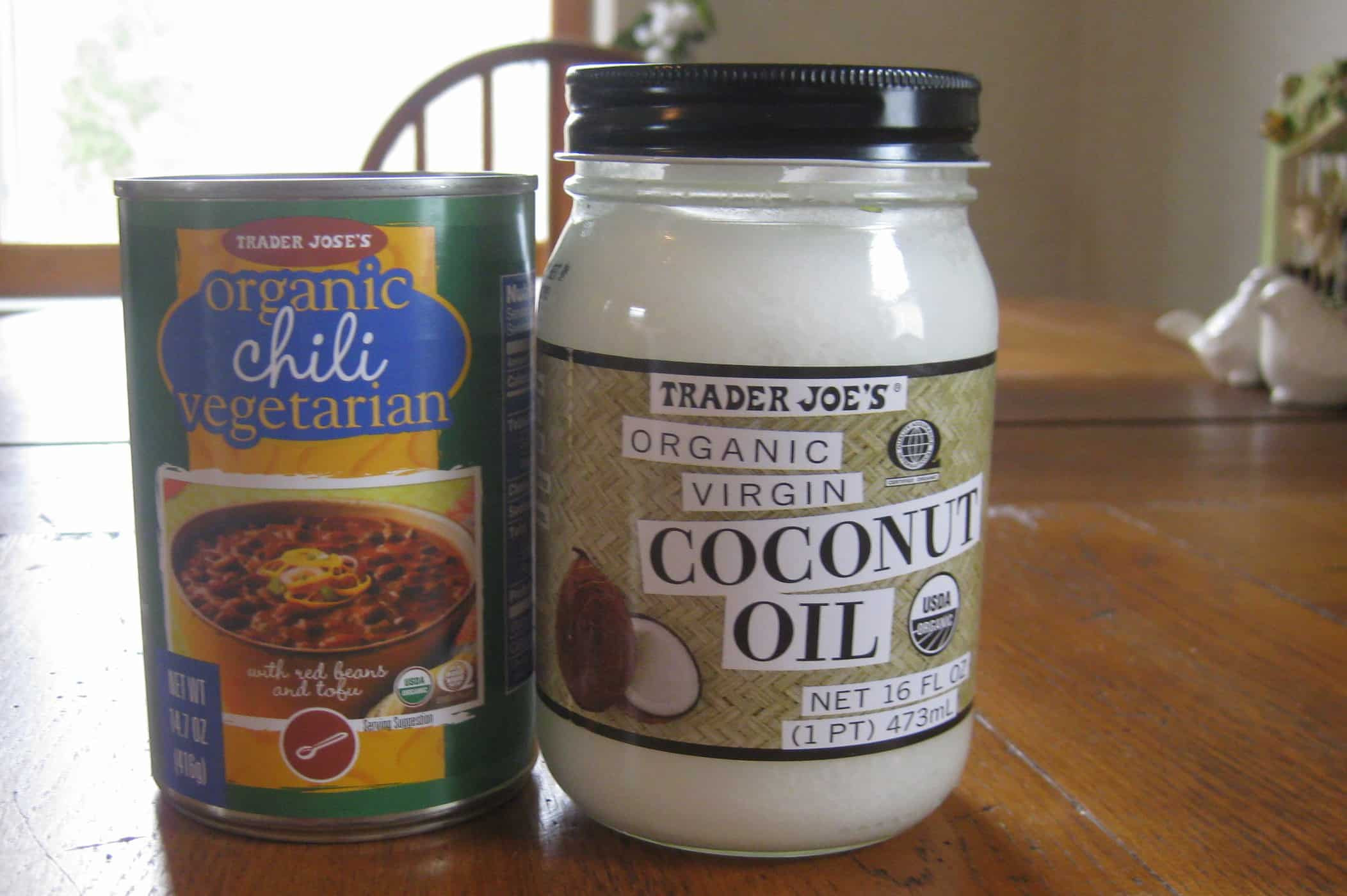 Trader Joe'S Organic Vegetarian Chili  Trader Joe s organic ve arian chili and coconut oil
