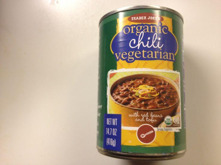 Trader Joe'S Organic Vegetarian Chili  Trader Joe s awesome ve arian chili Good on smart dogs
