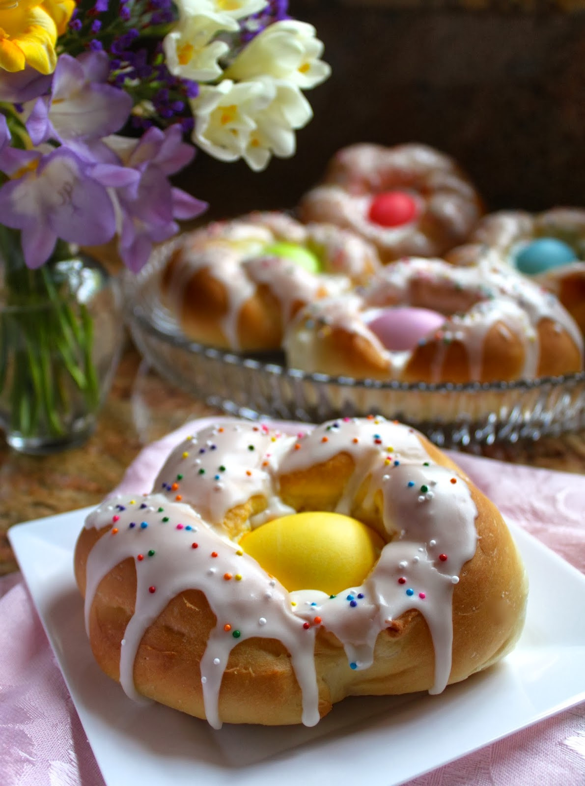Traditional Easter Bread  Individual Italian Easter Bread Rings…Easy Step by Step