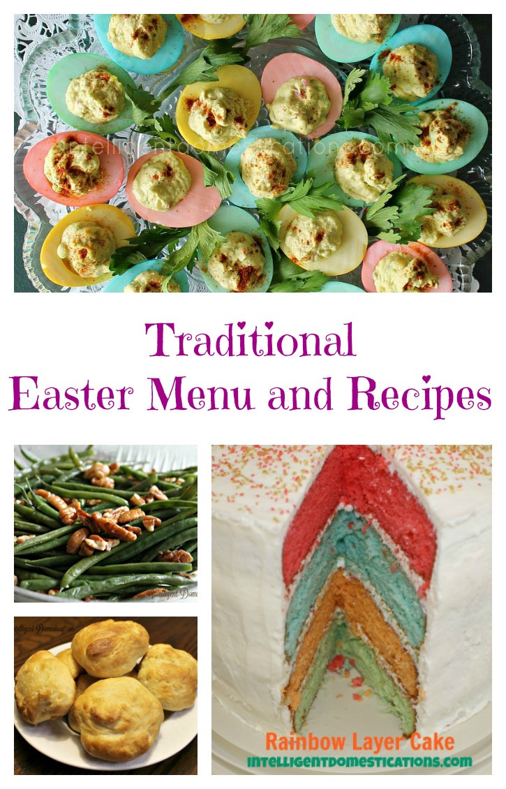 Traditional Easter Dinner Menu  Easter Menu and Recipes
