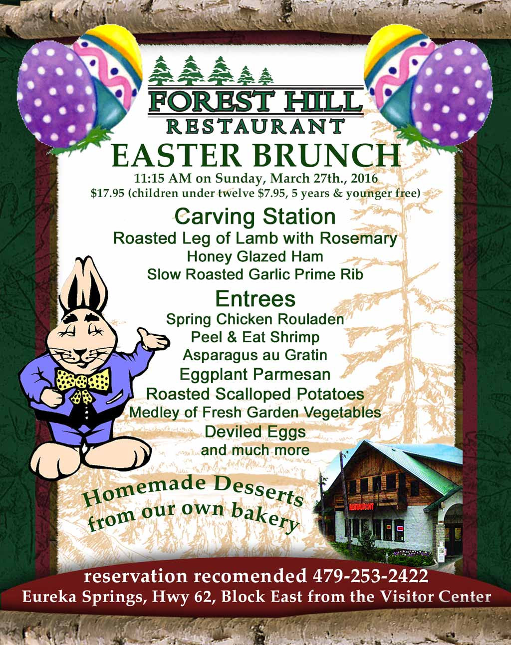 Traditional Easter Dinner Menu  Join us for a Traditional Easter Buffet