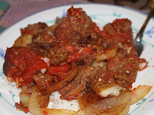 Traditional Middle Eastern Recipes  Traditional Iraqi casserole Tepsi Baytinijan