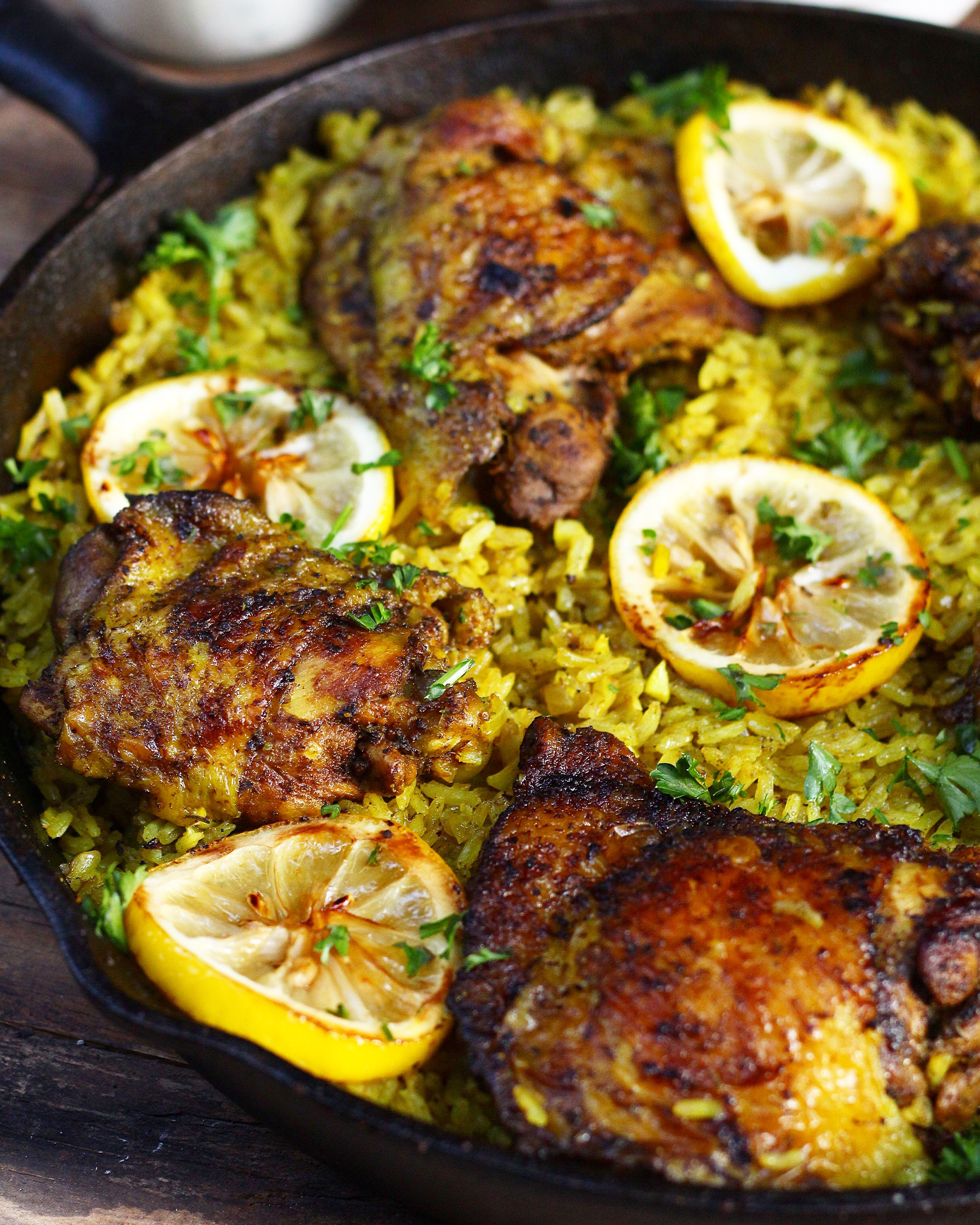 Traditional Middle Eastern Recipes  e Pot Middle Eastern Chicken and Rice Ev s Eats