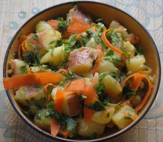 Traditional Middle Eastern Recipes  Potato Salad With Middle Eastern Flavors RECIPE