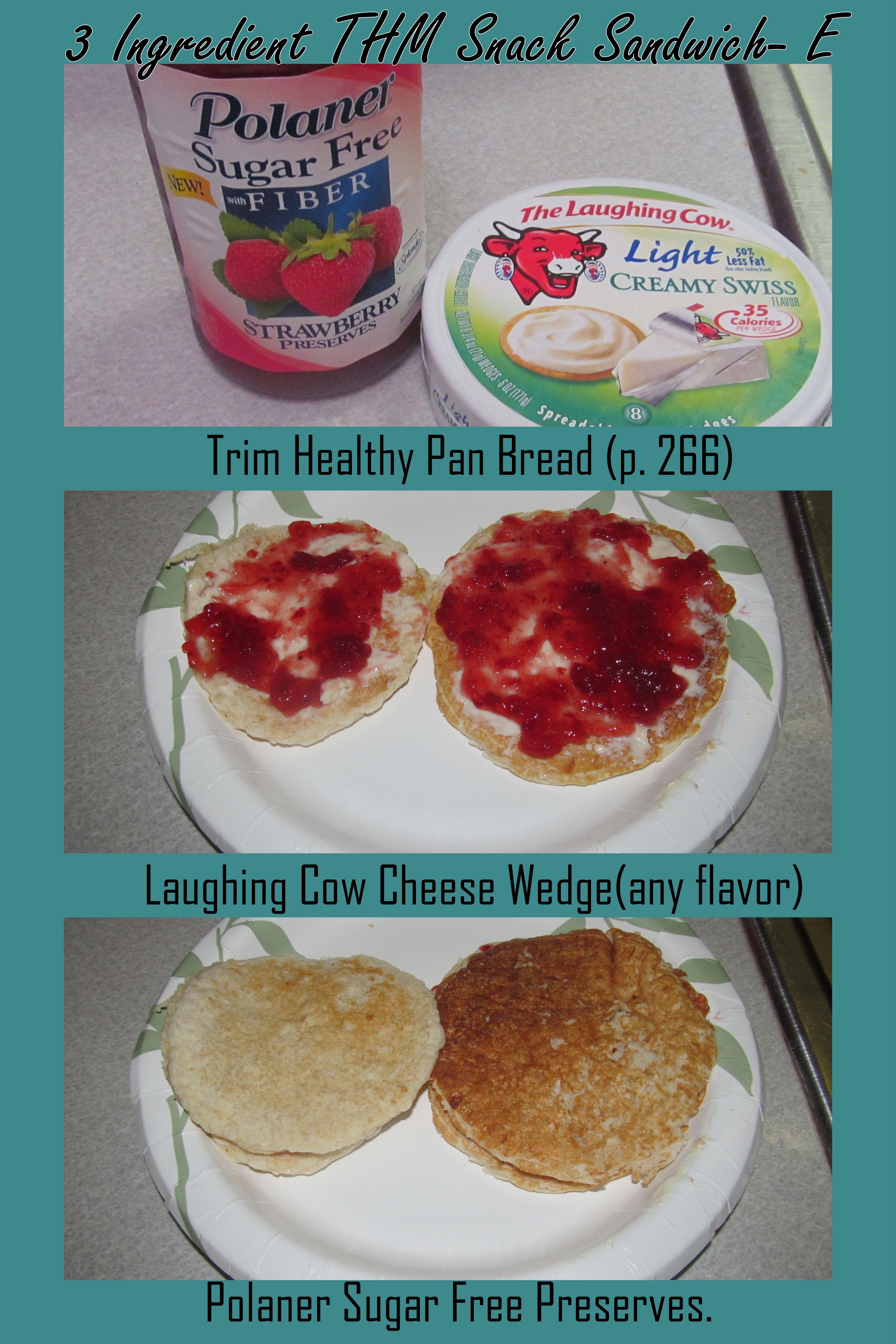 Trim Healthy Mama Bread  3 Ingre nt Trim Healthy Mama Snack Sandwich E pan