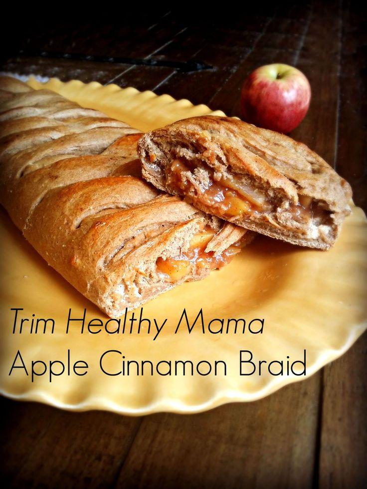 Trim Healthy Mama Bread  THM E Apple Braid Trim Healthy Mama