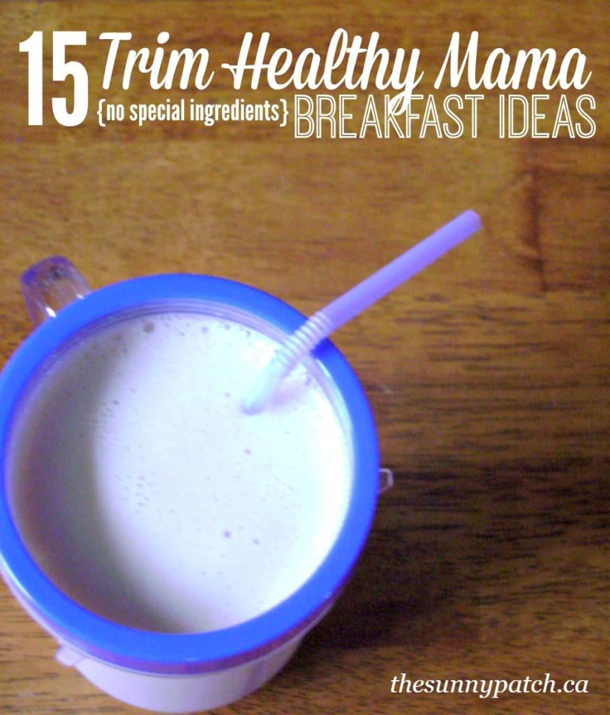 Trim Healthy Mama Breakfast  FREE 15 Trim Healthy Mama Breakfast Ideas Printable