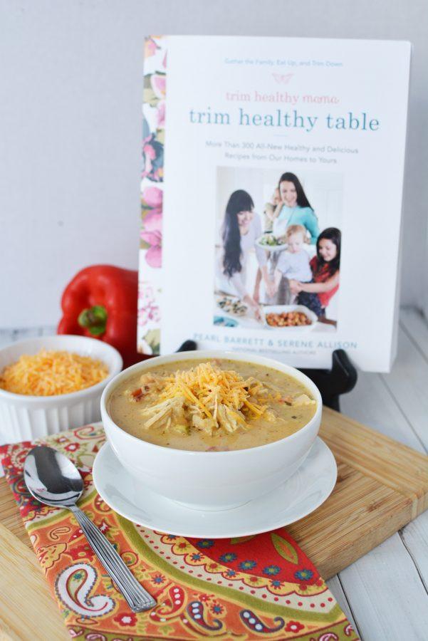 Trim Healthy Mama Instant Pot Recipes  Instant Pot Creamy Verde Chicken Chili Recipe