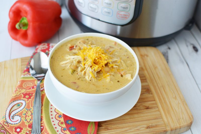 Trim Healthy Mama Instant Pot Recipes  Instant Pot Creamy Verde Chicken Chili Recipe from Trim
