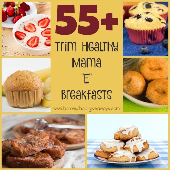 "Trim Healthy Mama Recipes Breakfast  55 Trim Healthy Mama ""E"" Breakfasts"