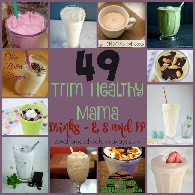 Trim Healthy Mama Smoothies  49 THM Drink Recipes – sorted by fuel cycle