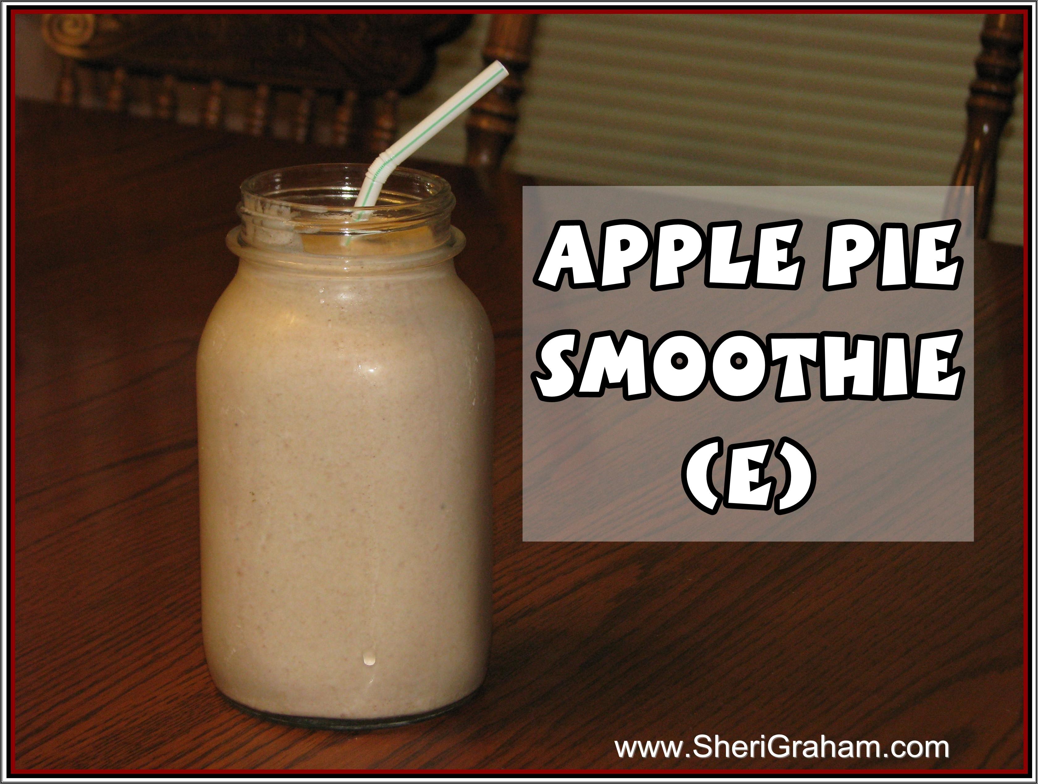 Trim Healthy Mama Smoothies  Trim Healthy Mama Apple Pie Smoothie E Sheri Graham