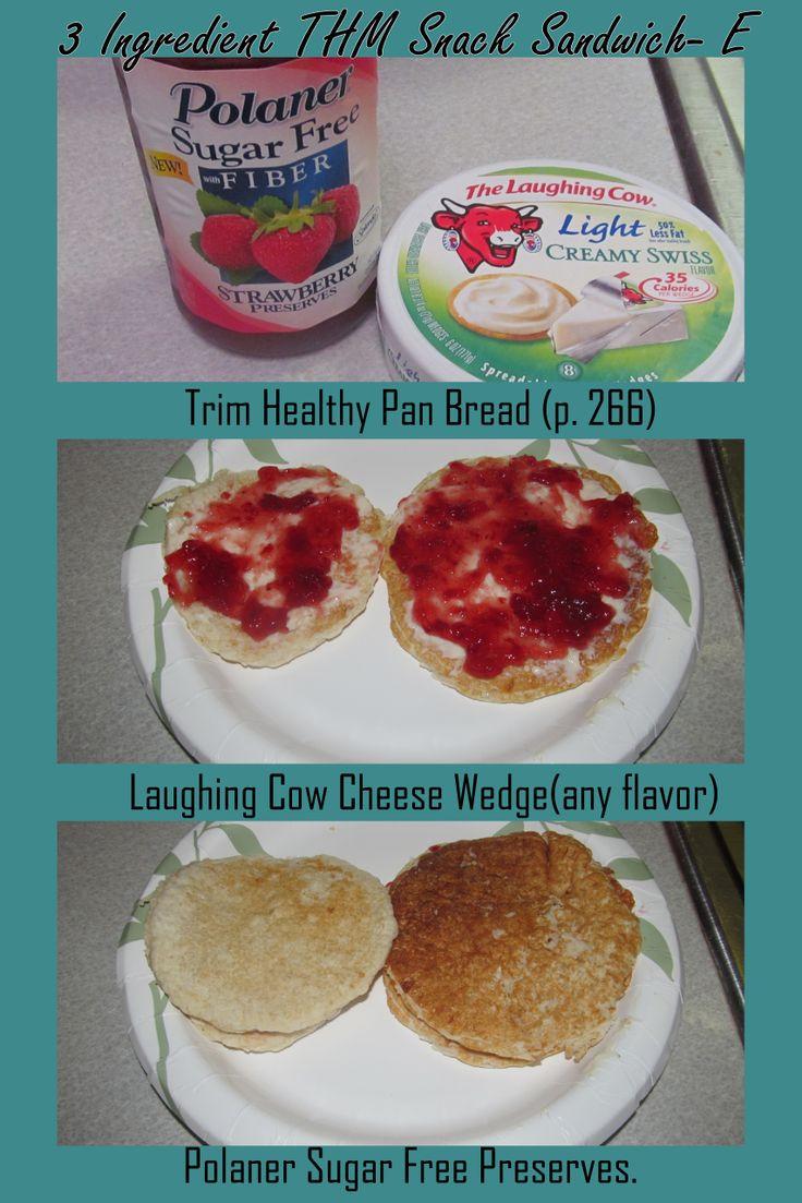 Trim Healthy Mama Snacks  3 Ingre nt Trim Healthy Mama Snack Sandwich E pan