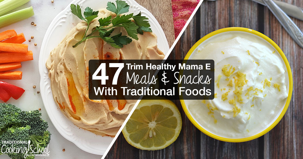 Trim Healthy Mama Snacks  47 THM E Meals and Snacks With Traditional Foods