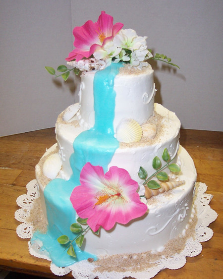 Tropical Wedding Cakes  The Dream Wedding Inspirations tropical wedding cakes samples