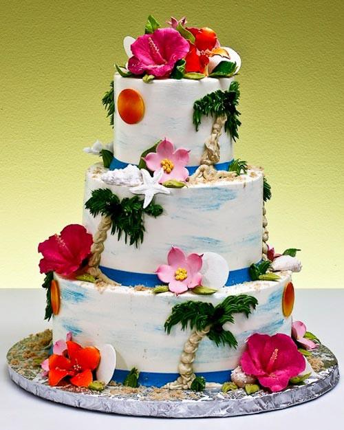 Tropical Wedding Cakes  Tropical Wedding Cake Ideas for a Summer Wedding