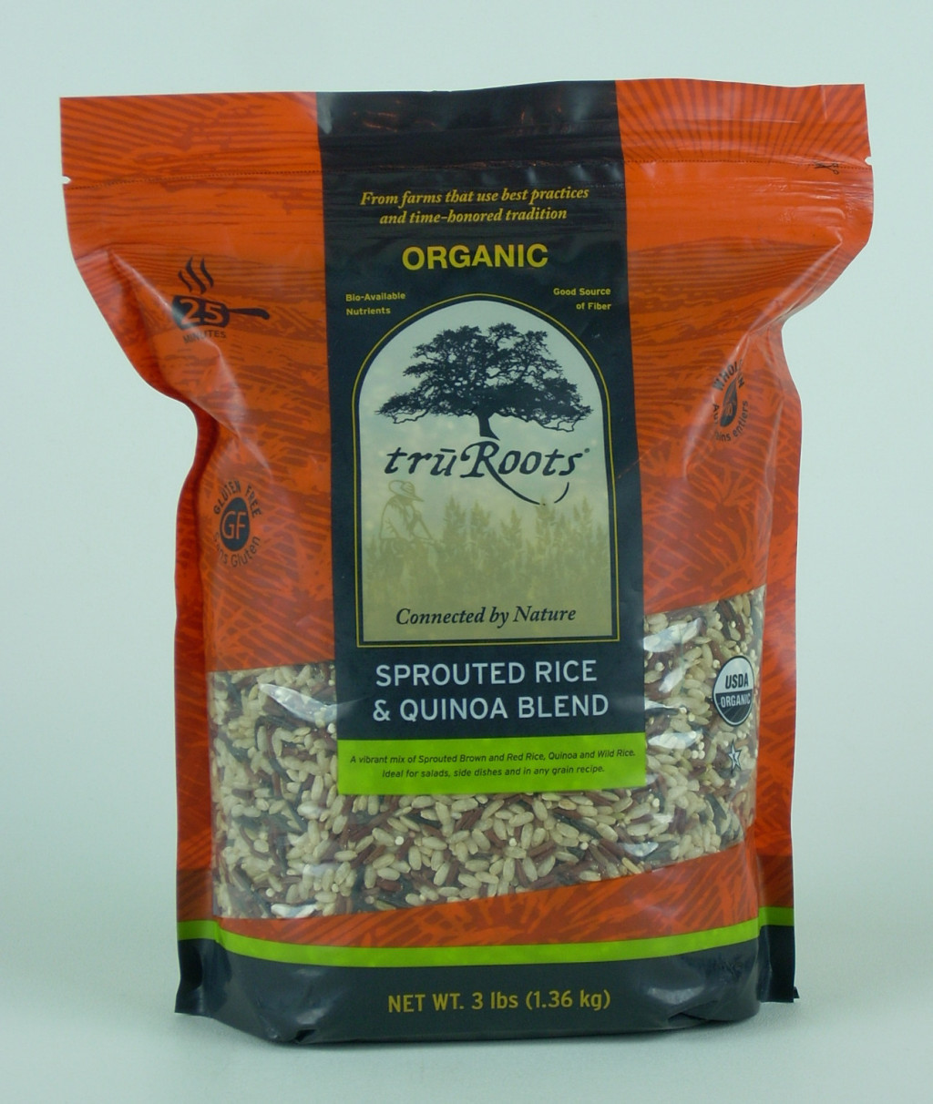 Truroots Organic Sprouted Rice And Quinoa Blend Bag 3 Lbs  TruRoots 3 12 Lbs ORGANIC WILD RICE & QUINOA BLEND