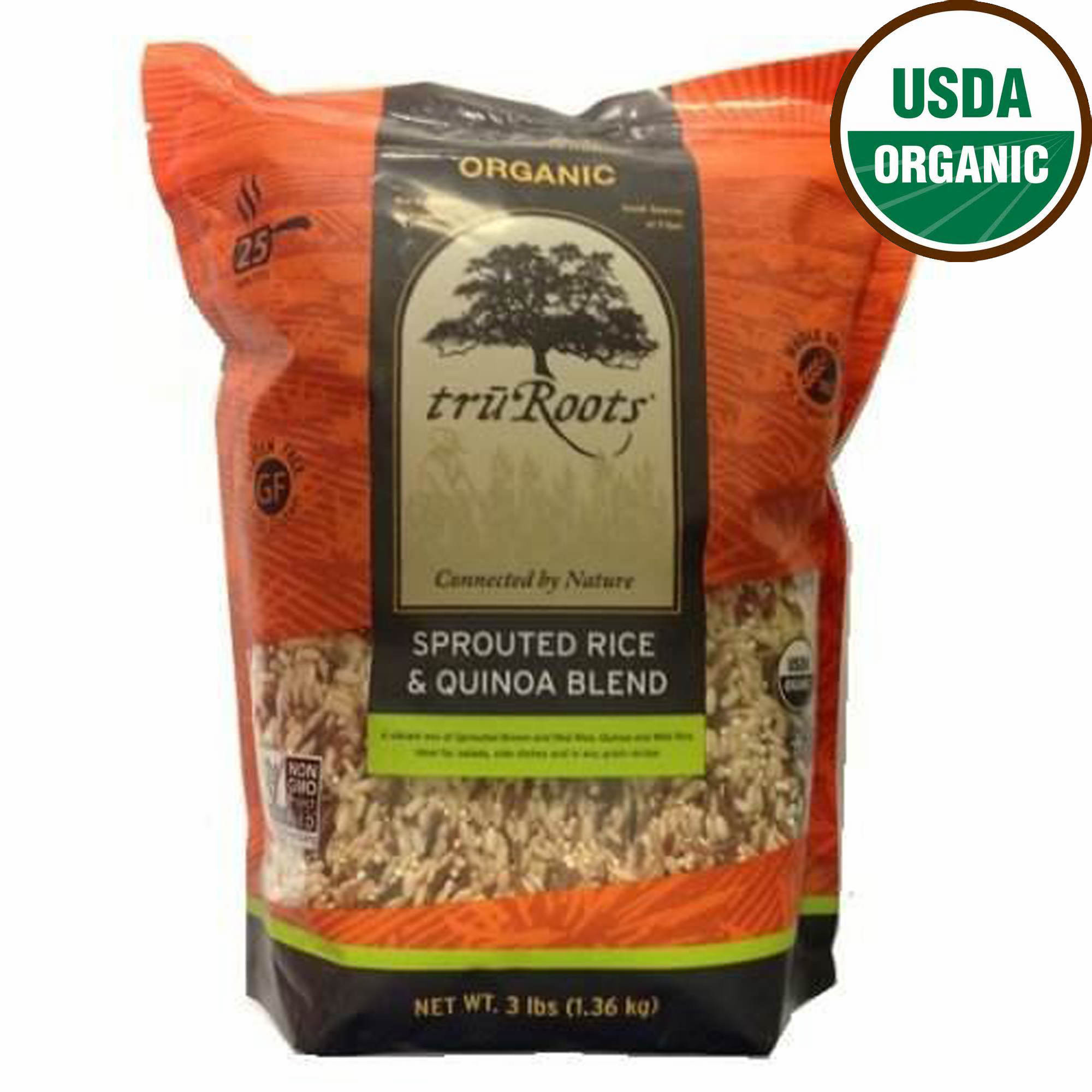 Truroots Organic Sprouted Rice And Quinoa Blend Bag 3 Lbs  truRoots Organic Sprouted Rice and Quinoa Blend 3 lb Bag