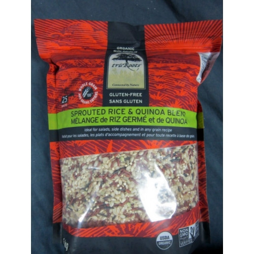 Truroots Organic Sprouted Rice And Quinoa Blend Bag 3 Lbs  Rice Wildroots Brand Sprouted Brown Rice