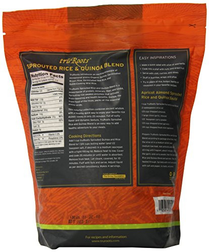 Truroots Organic Sprouted Rice And Quinoa Blend Bag 3 Lbs  truRoots Organic Sprouted Rice and Quinoa Blend Bag 3 lbs