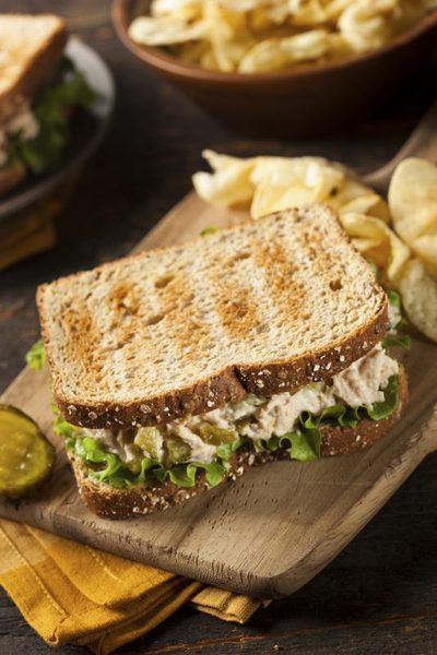 Tuna Sandwiches Healthy  How Many Calories in a Whole Tuna Sandwich on Wheat