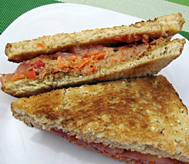 Tuna Sandwiches Healthy  Healthy Tuna Fish Salad Sandwich The Schizo Chef