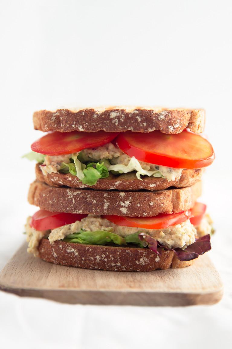 Tuna Sandwiches Healthy  Vegan Tuna Sandwich