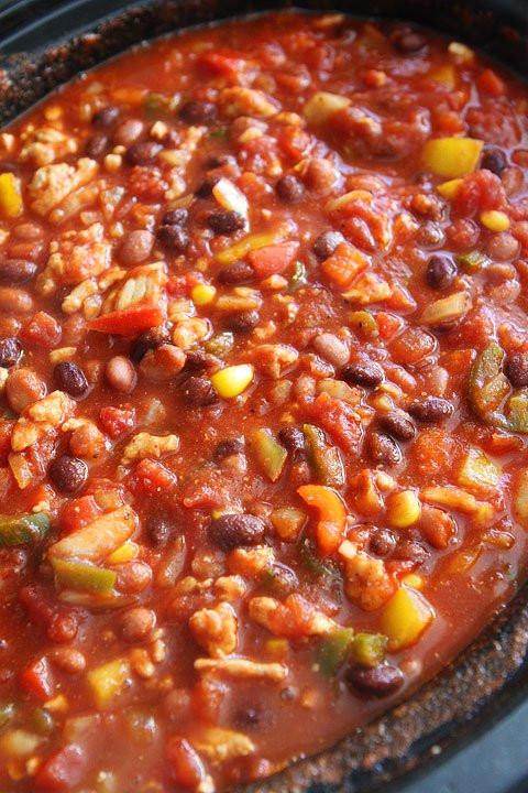 Turkey Chili Crock Pot Healthy  Slow Cooker Turkey Chili Healthy