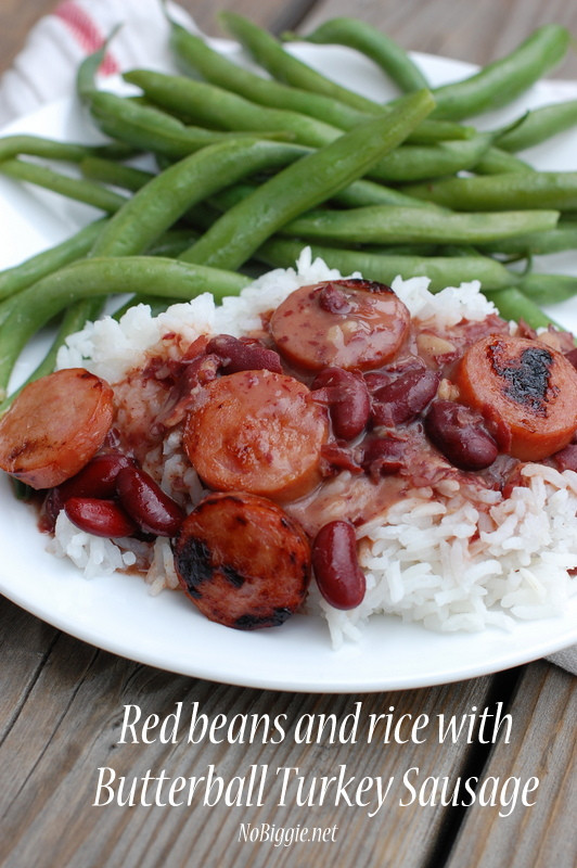 Turkey Sausage Healthy  Red Beans and Rice