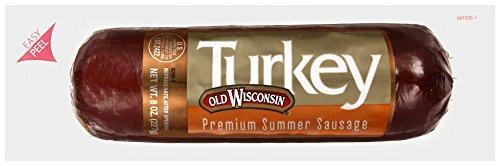 Turkey Summer Sausage  Old Wisconsin Premium Summer Turkey Sausage 8 oz pet