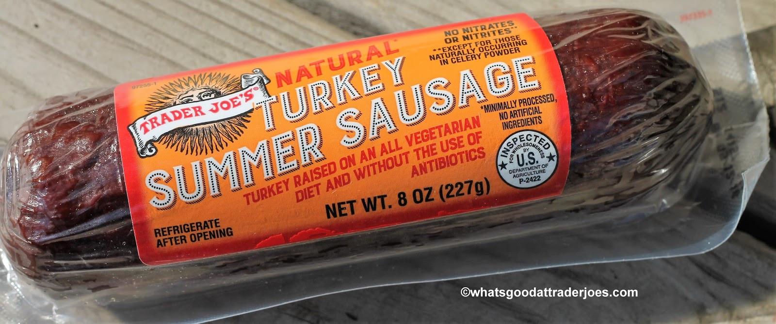 Turkey Summer Sausage  What s Good at Trader Joe s Trader Joe s Natural Turkey
