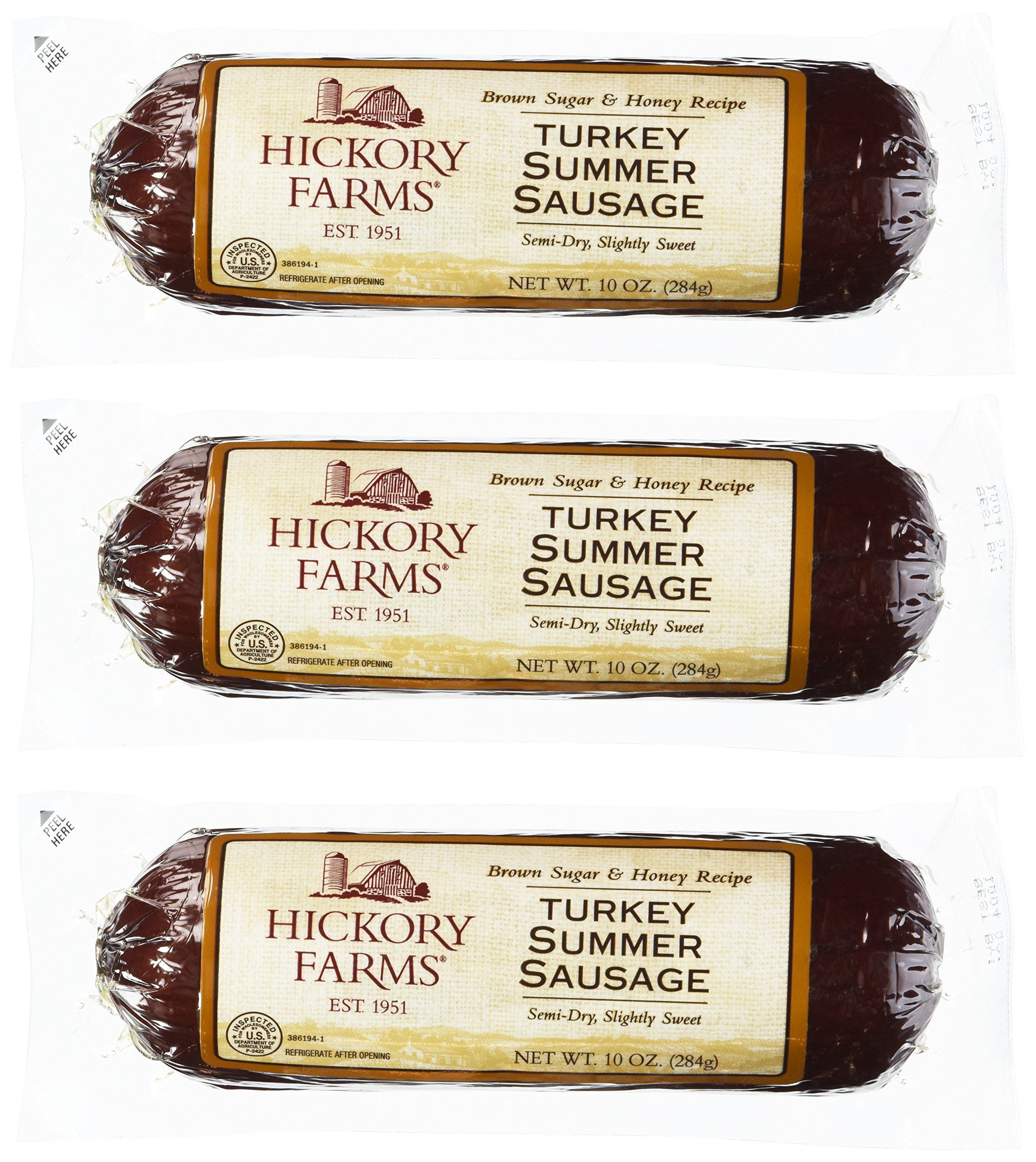 Turkey Summer Sausage  Hickory Farms Smoked Cheddar Blend Cheese 10 Ounces Pack