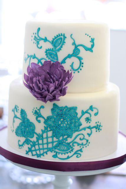Turquoise And Purple Wedding Cakes  17 Best images about Aqua & Purple Wedding on Pinterest