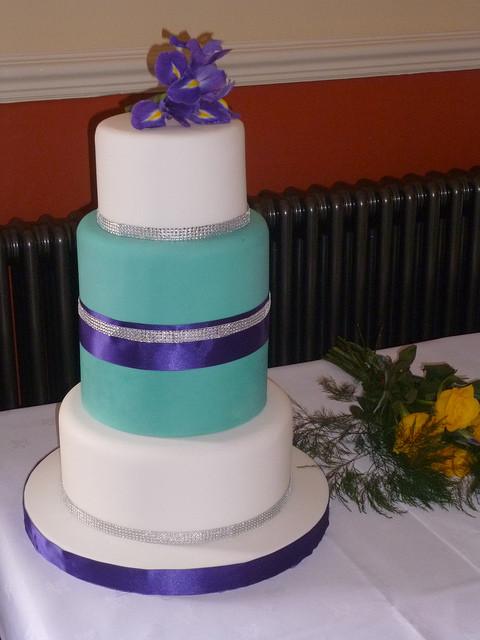 Turquoise And Purple Wedding Cakes  Purple and turquoise wedding inspiration