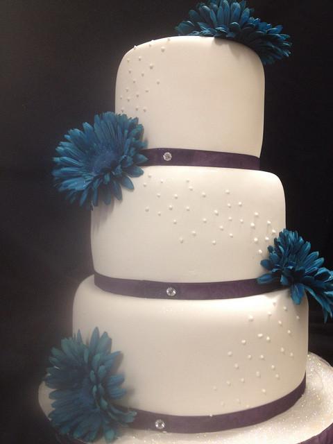 Turquoise And Purple Wedding Cakes  Turquoise and purple wedding cake