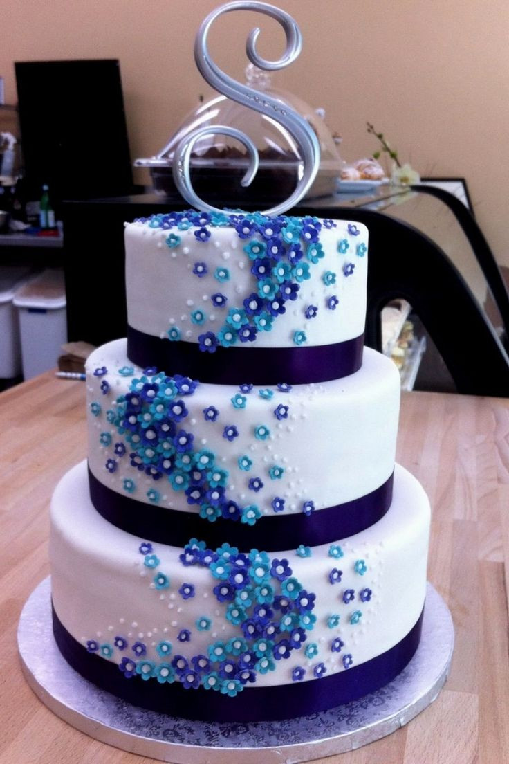 Turquoise And Purple Wedding Cakes  Best 25 Turquoise wedding cakes ideas on Pinterest