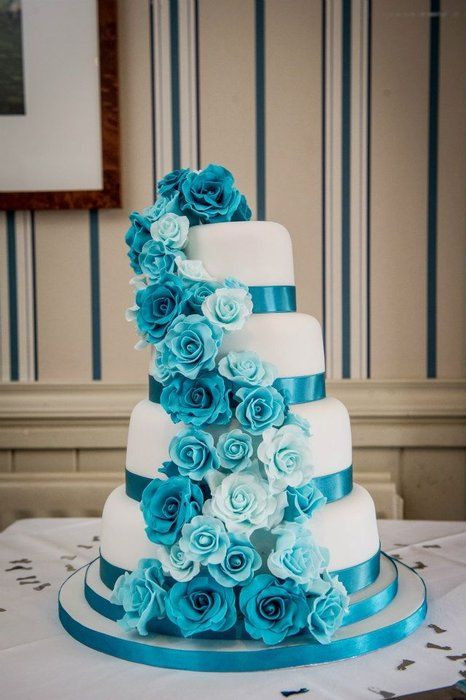 Turquoise And White Wedding Cakes  25 best ideas about Turquoise Wedding Cakes on Pinterest