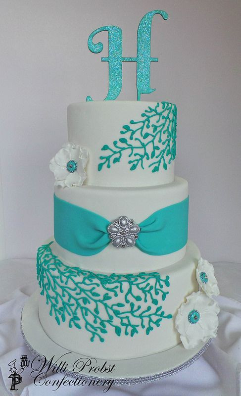 Turquoise And White Wedding Cakes  Best 25 Turquoise wedding cakes ideas on Pinterest